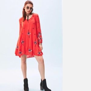 FREE PEOPLE Oxford Embroidered Minidress NWT